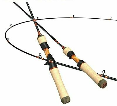 AU252.78 • Buy Fishing Rods Carbon Fiber Spinning Casting 2 Pieces Trout Ocean Beach Poles