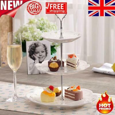 £2.47 • Buy Set Of 3 Tiers Cake Plate Stand Handle Fitting Party Crown Rod DIY