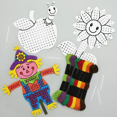 £7.50 • Buy CHILDRENs & ADULT FAMILY COLOURING CROSS STITCH ACTIVITY SEWING KITs + FREEBIES.