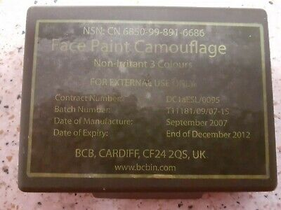 Face Paint Camouflage, 3 Colours - Nsn:cn 6850-99-891-6686 • 2.99£