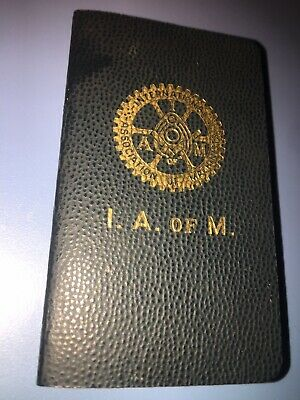 $5.97 • Buy 1962 International Association Of Machinists Union Dues Book Grande Lodge Nice!