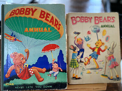 £13.35 • Buy 2 X Bobby Bear's Annuals - Vintage Hardcovers 1936 & 1945 Editions - Dean