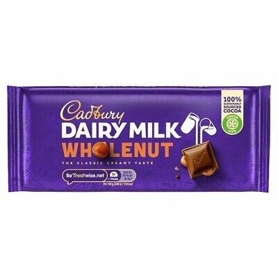 £7.50 • Buy 2 X Dairy Milk Wholenut Chocolate Large 200g Bars Great Value Tasty Gift