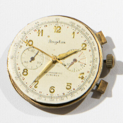 $ CDN580.78 • Buy Vintage ANGELUS Chronograph Movement With Dial And Hands.