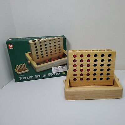 £10.80 • Buy Vintage Pintoy Four In A Row Wooden Game Board, Complete