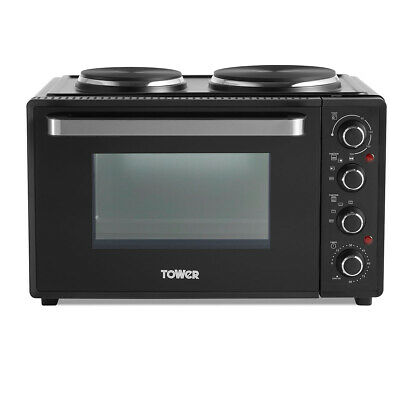 £134.99 • Buy Tower Mini Oven Baking Tray Wire Rack Compact Rotisserie Grill Cooker 32L Black