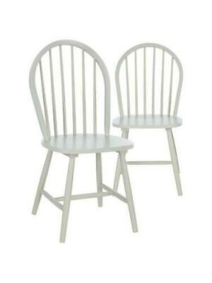 £50 • Buy Pair Of Wooden Daisy Chairs Brand New 2 Pack Grey Free Postage