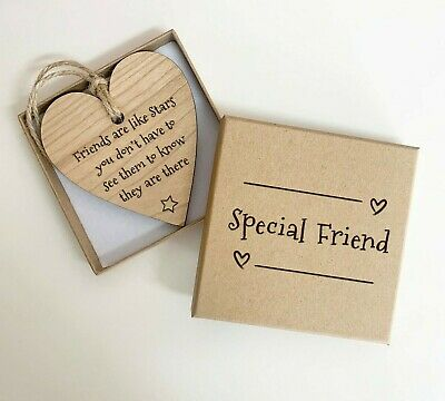 £6.95 • Buy Mindfulness Hanging Heart Plaque Friendship Gift, Engraved Inspirational Sign