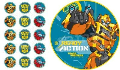 £4.50 • Buy Transformers Edible Cake Topper Paper Birthday Party Deco New Cupcake Bumblebee