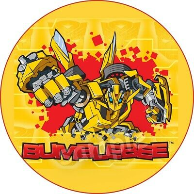 £9.99 • Buy Transformers Edible Cake Topper Paper Birthday Party Deco New Cupcake Bumblebee