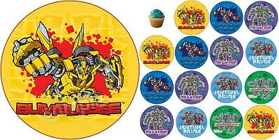£4.49 • Buy Transformers Edible Cake Topper Paper Birthday Party Deco New Cupcake Bumblebee