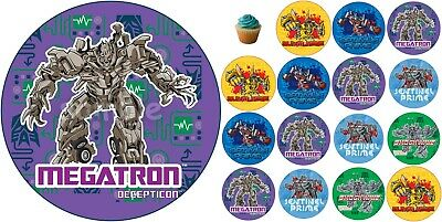 £4.49 • Buy Transformers Edible Cake Topper Paper Birthday Party Deco Cupcake Megatron New
