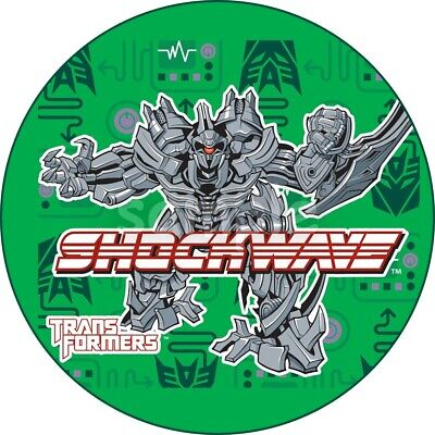 £4.49 • Buy Transformers Edible Cake Topper Paper Birthday Party Deco Cupcake Shockwave New