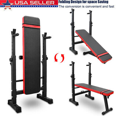 £64.99 • Buy Folding Flat Weight Lifting Bench Body Workout Exercise Benches Home Gym Fitness