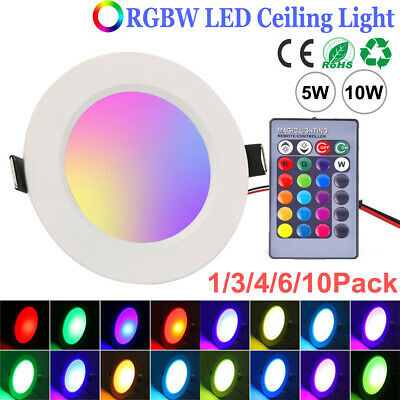 £7.99 • Buy RGB 16 Colour Changing Ring LED Ceiling Panel Down Lights Mood Light 5W/10W Lamp