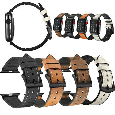 $ CDN7.43 • Buy Replacement Leather Band Strap 38mm/42mm For Apple Watch Series 6 SE 5 4 3 2 1
