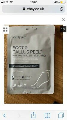 £5.87 • Buy 1 Pair Beauty Pro Foot & Callus Peel Sachet Removes Dead Skin After 7 Days