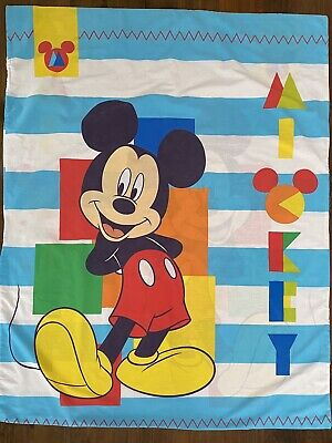 £10.84 • Buy Licenced Disney Mickey Mouse Cot Quilt Cover 116cm W X 148cm L - Upcycle/Sew GUC