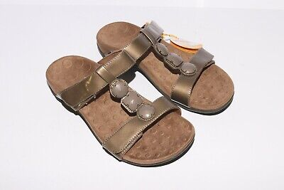 £21.88 • Buy NWT Orthaheel Vionic Albany Sandals Slides Beige T-strap Size 6