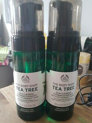 £7.95 • Buy The Body Shop Tea Tree Foaming Cleanser Face Wash 150ml X2