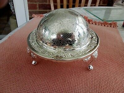 £15 • Buy Silver Plated Butter Dish /caviar Dish Orig Glass Liner Made In UK Vintage