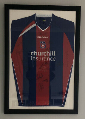 £75 • Buy Crystal Palace FC Signed And Framed Home Shirt
