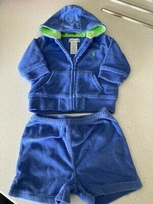 £3 • Buy Baby Ralph Lauren Tracksuit Top & Shorts Set / Outfit - 6 Months