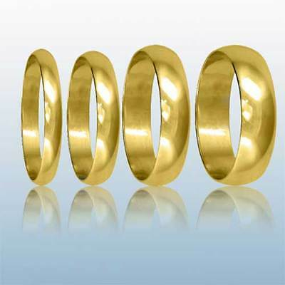 AU130.76 • Buy 9ct Yellow Gold Wedding Rings D-Shaped Hallmarked Band