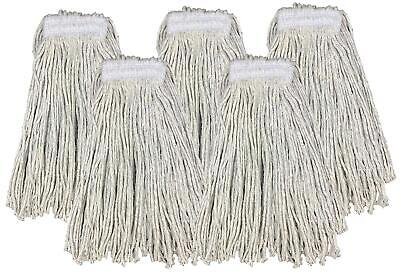 £9.99 • Buy Kentucky Mop Head 16oz Replacement Commercial Cotton Heavy Duty Large 5 Pack