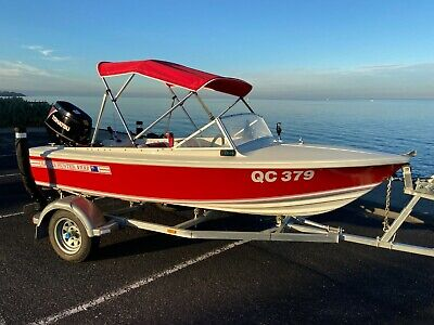 AU14900 • Buy 1982 Haines Hunter V-Hull V133 Boat, NEW 50HP Outboard (27 Hours), Immaculate