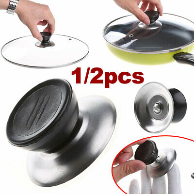 £3.29 • Buy Universal Knob Replacement Stainless Steel Cover Wok Pan Pot Handle Glass Lid