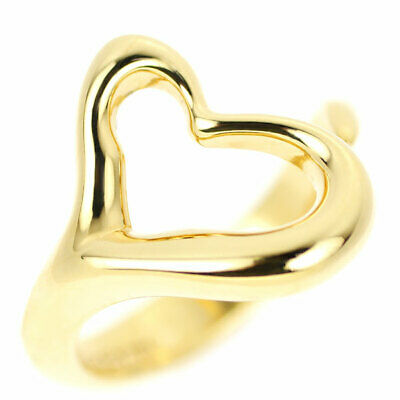 £461.39 • Buy Tiffany K18YG Ring Open Heart - Auth SELBY_JAPAN