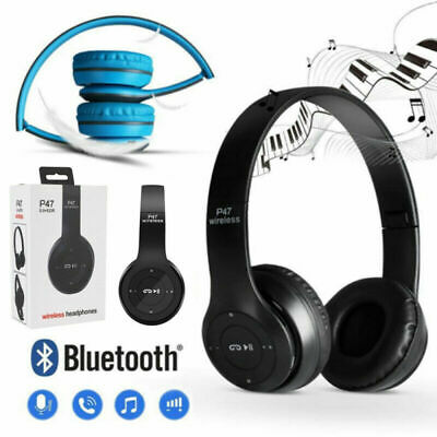 £6.89 • Buy Wireless Headphones Bluetooth Headset Noise Cancelling Over Ear W/ Microphone