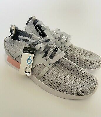 £6 • Buy Primark Pink And Grey Trainers - Size 6
