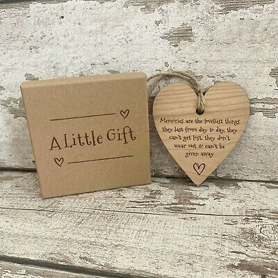 £6.95 • Buy Wellbeing Gift For Women & Friendship Handmade Hanging Heart Plaque Mindfulness