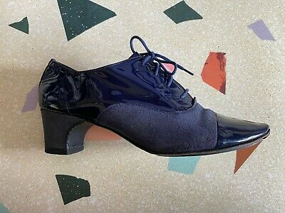 £100 • Buy Repetto Oxford Shoes UK6 EU39 / Metallic Blue / Leather