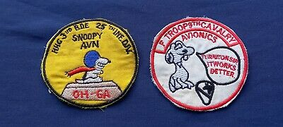 £9.99 • Buy 2 Us Vietnam War Snoopy Cloth Badges / Patches