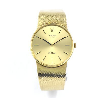 $ CDN1240.20 • Buy VINTAGE ROLEX CELLINI 3833 CAL 1600 WRISTWATCH 18K YELLOW GOLD BOX PAPERS C.1975