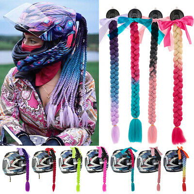 £9.50 • Buy Helmet Twist Box Braids Hair Extensions Motorcycle Ponytails Suction Accessories