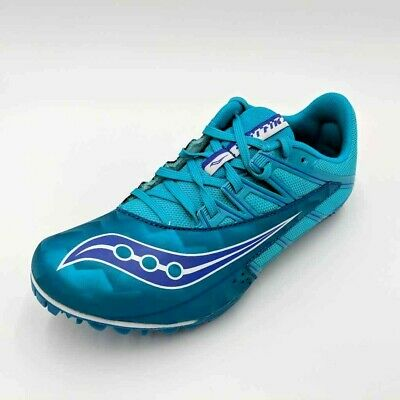 $ CDN36.29 • Buy Saucony Womens Spitfire 4 Track Shoes Blue Low Top Lace Up S19034-2 Size 8.5