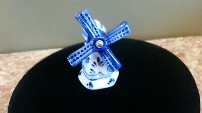 £4.10 • Buy Vintage Delft's Blue Style Handpainted Blue White Ceramic Windmill Figurine