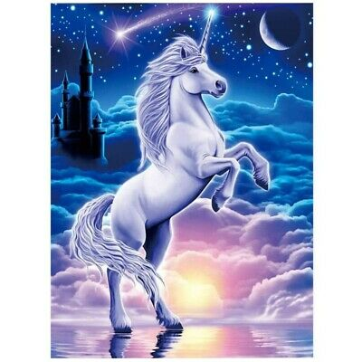 AU14.01 • Buy Unicorn 5D Diamond Painting Full Drill Embroidery Kits For Adult Cross Stitch