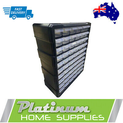 AU41.70 • Buy Storage Cabinet  Drawers 60 Plastic Tool Boxes Containers Organiser Cupboard