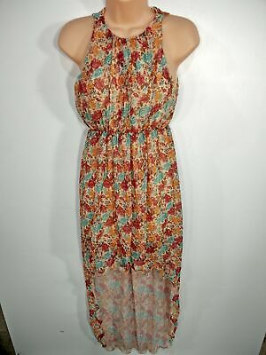 £9.99 • Buy Womens Eva & Lola Size Small Floral Sleeveless High Low Summer Dress Occasion