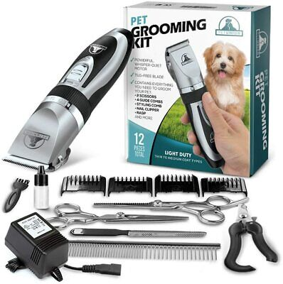 £19.95 • Buy Dog Grooming Kit - Rechargeable, Cordless Pet Clippers & Tool Set. Low Noise.