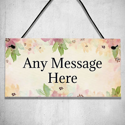 £3.99 • Buy Personalised Any Message Garden Shed Or Door Wall Gifts Plaque Hanging Sign