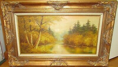 $ CDN629.41 • Buy Cantrell Original Oil On Canvas River Creek Landscape Painting