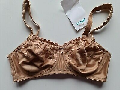 £10 • Buy Felina Full Cup Non Padded Wire Free Bra Nude 34c