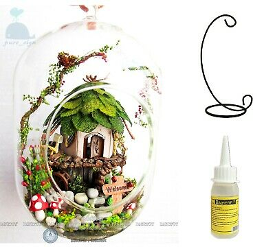 £15.99 • Buy DIY Handcraft Miniature Wooden Dolls House The Forrest Cottage Glue Stand