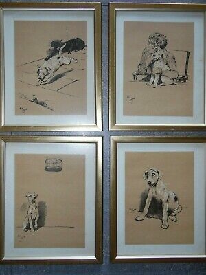 £56 • Buy A Dog Day Cecil Aldin Humorous Dog Lithographs C1920. Set Of 4 Framed.